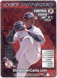 mlb showdown 2001 ace pitcher pedro martinez